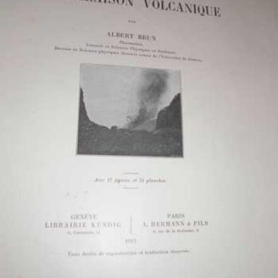 Brun Albert Recherches sur l'exhalaison volcanique